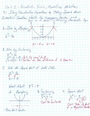 Quadratic Functions and Imaginary Numbers