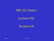 Lecture 32 sect 6.9