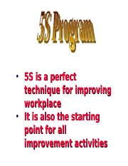 5S ppt - 5S is a perfect technique for improving workplace