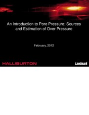 An Introduction to Pore Pressure.pdf; Sources and Estimation of Over Pressure
