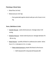 Physiology of blood Notes