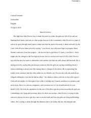 Fortunato John Proctor act three paper