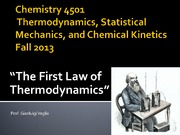 Chemistry 4501-The first Law