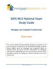 SAFE MLO National Exam - Study Guide