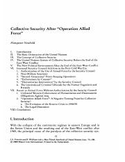 Neuhold - Collective Security After _Operation Allied Force_