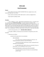 Oral Presentation Instructions and Guidelines