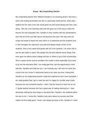 2 pages essay my cooperationg teacher - Portfolio Essay Example