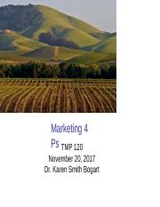 TMP 120 Lecture 15 Marketing 4Ps 112017B.ppt