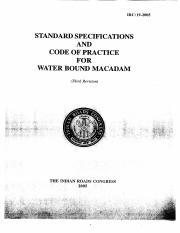 IRC-19 WBM specification - IRC 19-2005 STANDARD