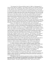 arh introduction to the history of photography u of a 2 pages essay draft 1