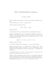 Dartmouth Math 3 Introduction to Calculus Practice Exam 3