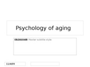 08.28.2008 Psych of Aging