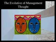 Chapter4 The Evolution of Management Thought Sept 27