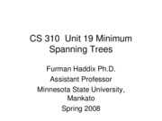 CS 310 Unit 19 Minimum Spanning Trees