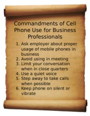 Commandments of Cell Phone Use Jayden Levine