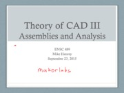 Theory of CAD III