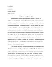 Composition & Research Personal Experience Essay