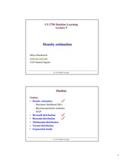 Lecture Notes E on Machine Learning