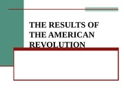 3.  THE RESULTS OF THE AMERICAN REVOLUTION