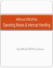 ARM STM32F407 Interrupts
