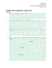 Module Nine Assignment - Chapter Ten