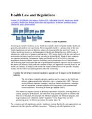 sample Health Law and Regulations