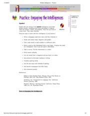 Multiple Intelligences -- Spatial