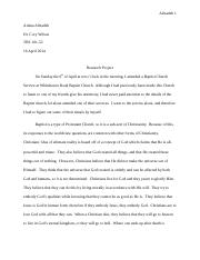 Religion Research Paper