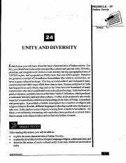 L-24 UNITY AND DIVERSITY