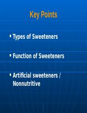 Lecture 6 - Sweeteners(1).ppt