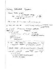 Differential equations study guide