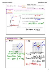 parallelograms notes