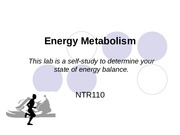 NTR110 Energy Metabolism