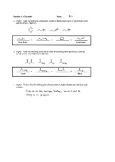 Exam 3 Spring 2001 Solution on Organic Chemistry II