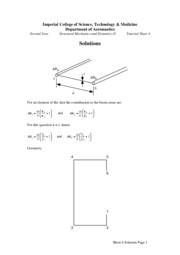 Tutorial Solution Sheet 4