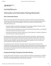 Information and Information Sharing (Networks).pdf