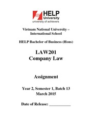 LAW201 Assignment Y2 S1 B13