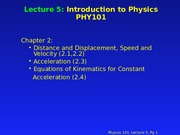 PHY 101 Lecture 5