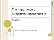 Ch4 The Importance of Subjective Experiences In PA