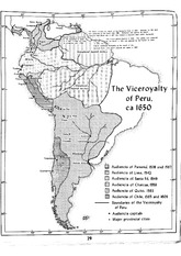 Viceroyalty of Peru Map 1650