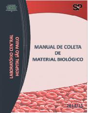 MANUAL DE COLETA DE MATERIAL BIOLOGICO 2014.2015