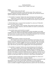 history cronon worksheet reading worksheet william cronon changes in the land indians 1 how. Black Bedroom Furniture Sets. Home Design Ideas
