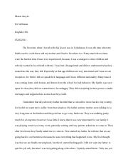 Max essay about personal narrative draft #2