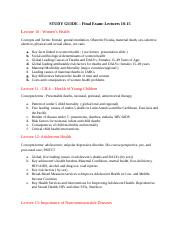 STUDY GUIDE-Final