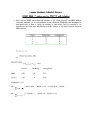 OMIS 3350_ANOVA problem sets with Solutions.docx