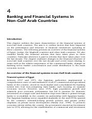 Banking and Financial Systems in Non-Gulf Arab Countries