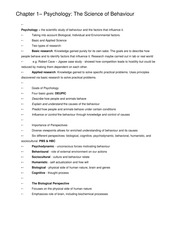PSYCH 1000 Holden Full Notes