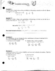 Probability Involving OR
