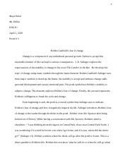 Catcher in the Rye Final Essay .docx