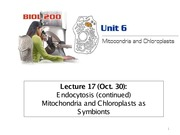 Lecture17 - mitochondria and chloroplasts as symbionts - 2014W LC